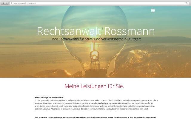 Onepager für Firmenwebsite mit Wordpress