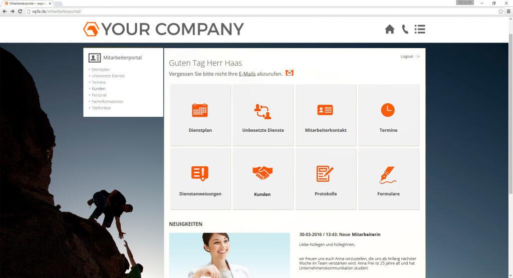 Online-Mitarbeiterportal